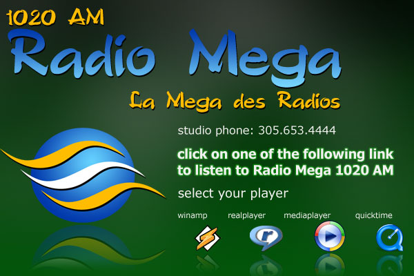 . La mega des radios. Radio Mega 24/7 broadcast from Miami